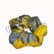 Satin scrunchie Yellow summer