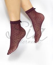 Socks Wine dots