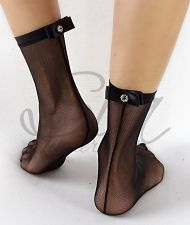 Socks Saten chick black