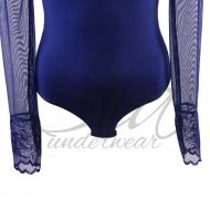 Body with long sleeves Olimpia dark blue