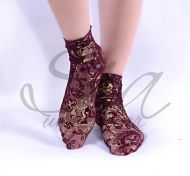 Socks Gold wine